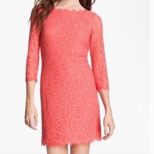 Diane Von Furstenberg Zarita Pink Grapefruit Lace